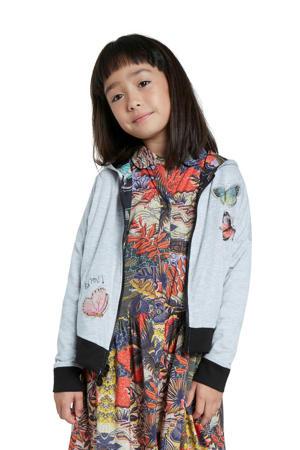 reversible vest met all over print zwart/grijs/multicolor