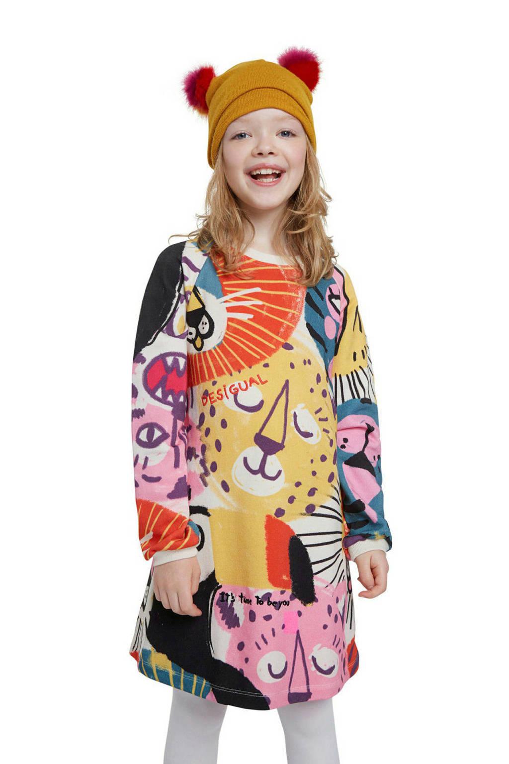 Desigual A-lijn jurk met all over print multicolor, Multicolor
