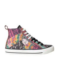 Desigual   hoge sneakers met patchwork multi, Multi