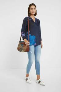 Desigual blouse met printopdruk donkerblauw/blauw, Donkerblauw/blauw