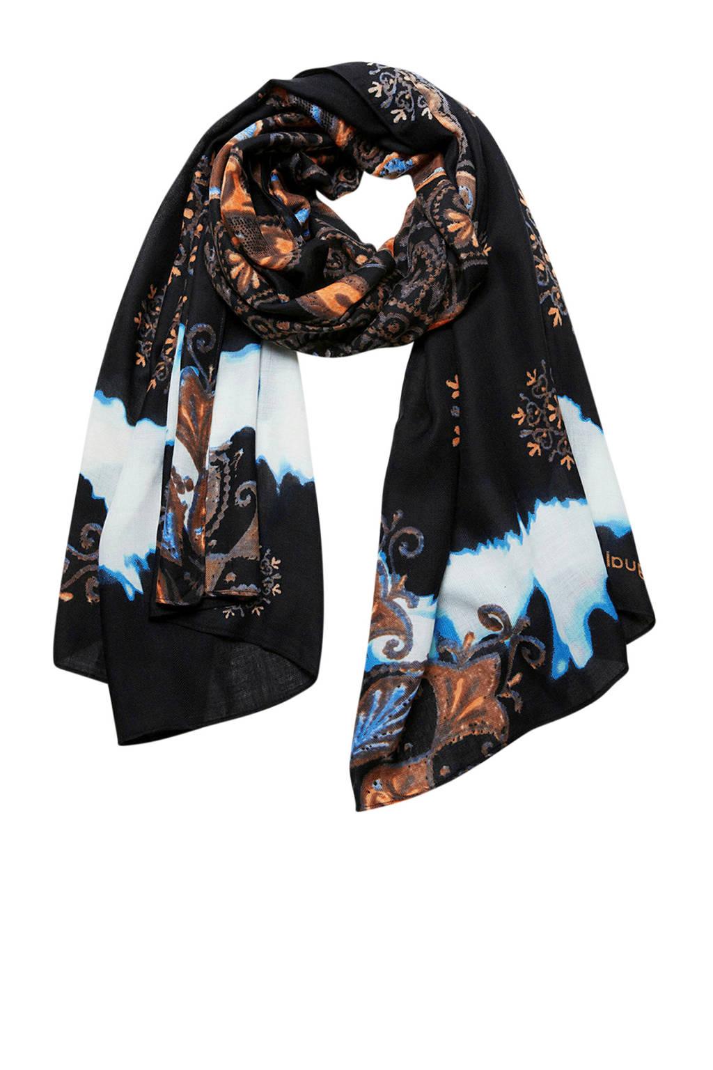 Desigual sjaal Foul Deva zwart, Zwart