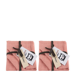 hydrofiel washandje uni- set van 6 roze