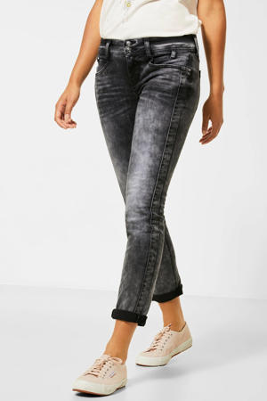 low waist slim fit jeans Crissi grijs