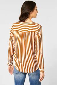 Street One gestreepte blouse oranje/wit, Oranje/wit