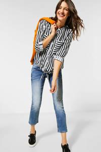 Street One gestreepte blouse zwart/wit, Zwart/wit