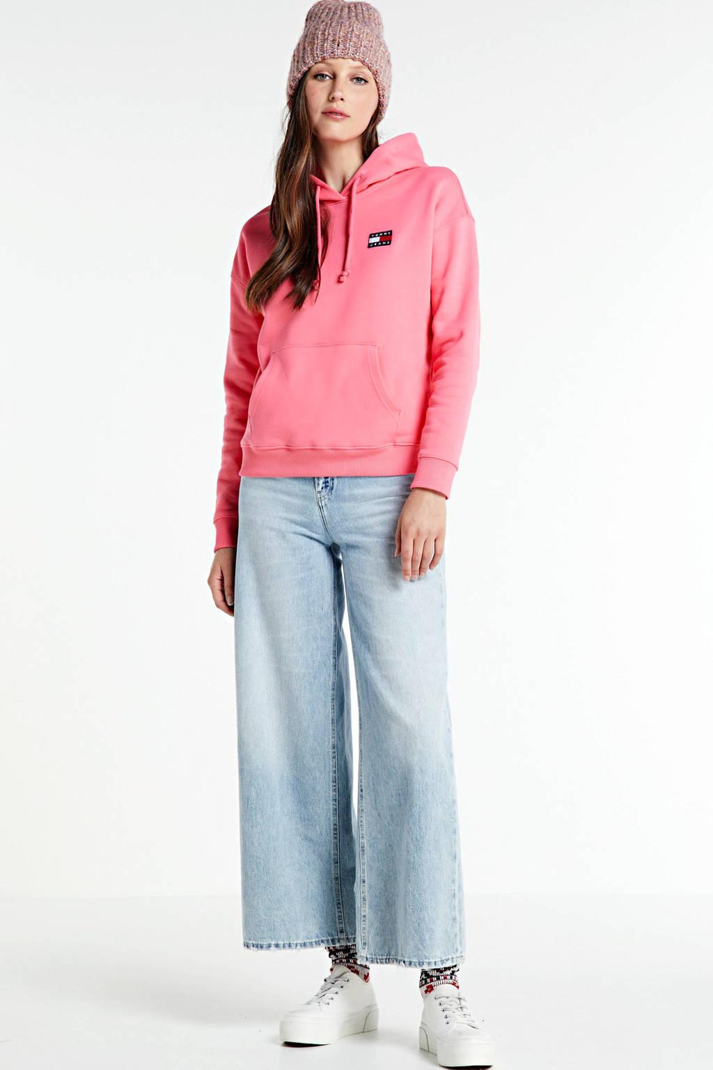 Tommy Jeans hoodie roze, Roze