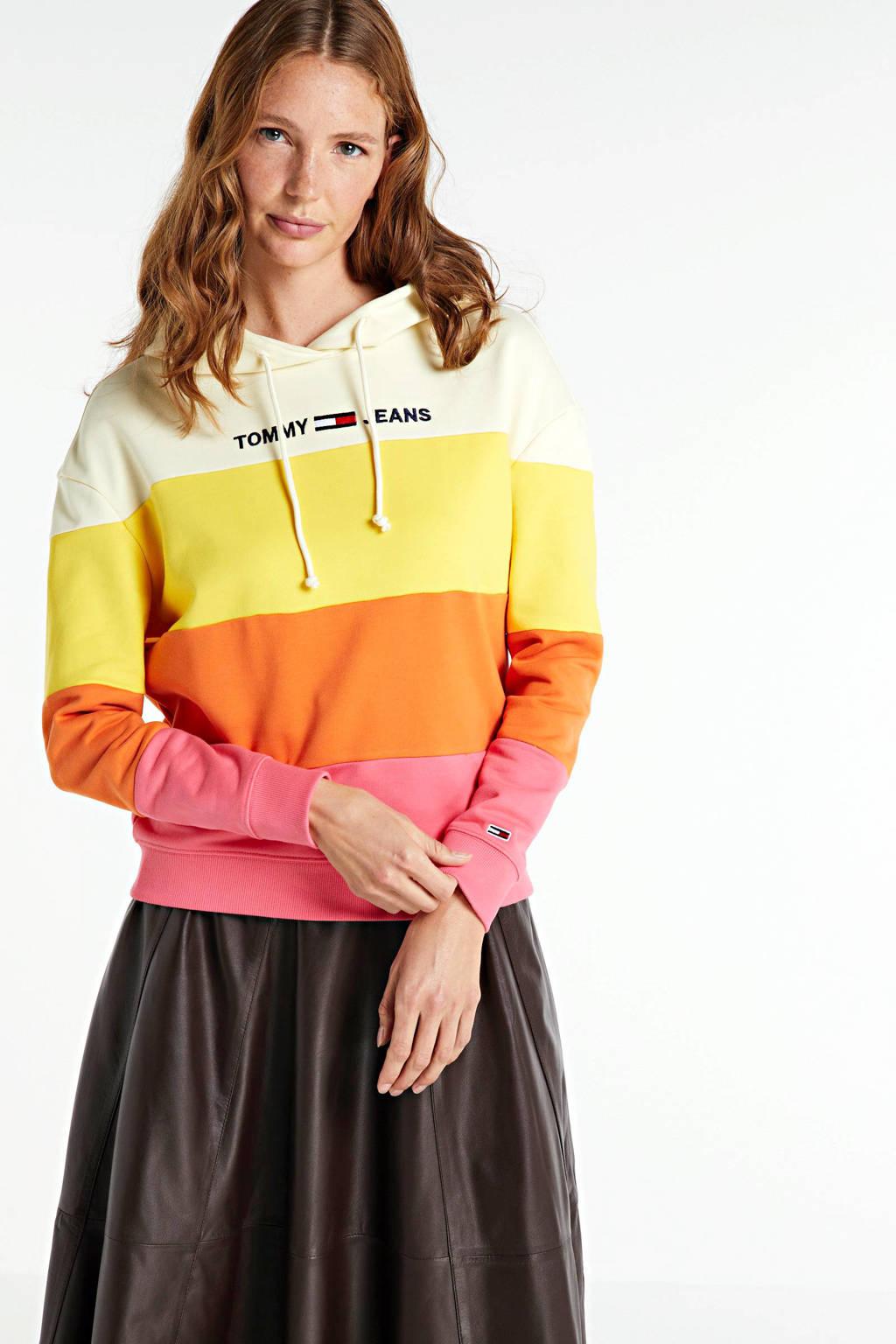 Tommy Jeans hoodie van biologisch katoen multicolor, Multicolor