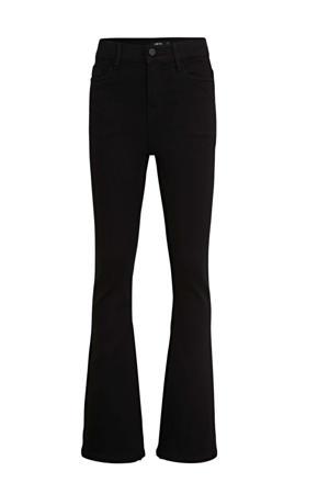 flared jeans Pil zwart