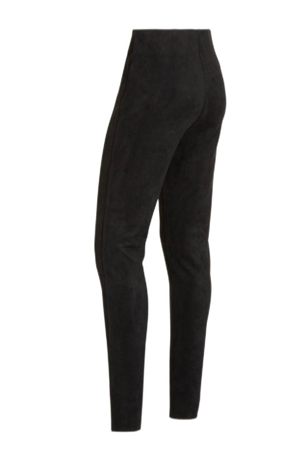 FREEQUENT slim fit broek zwart, Zwart