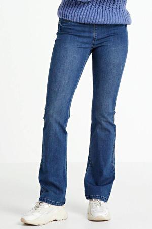 high waist flared jeans blauw