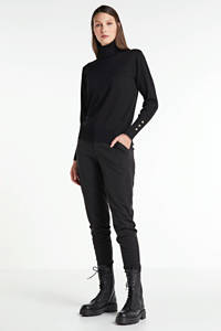 FREEQUENT fijngebreide coltrui zwart, Zwart