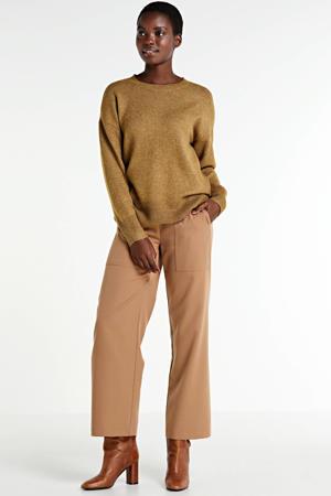 fijngebreide trui van gerecycled polyester groen