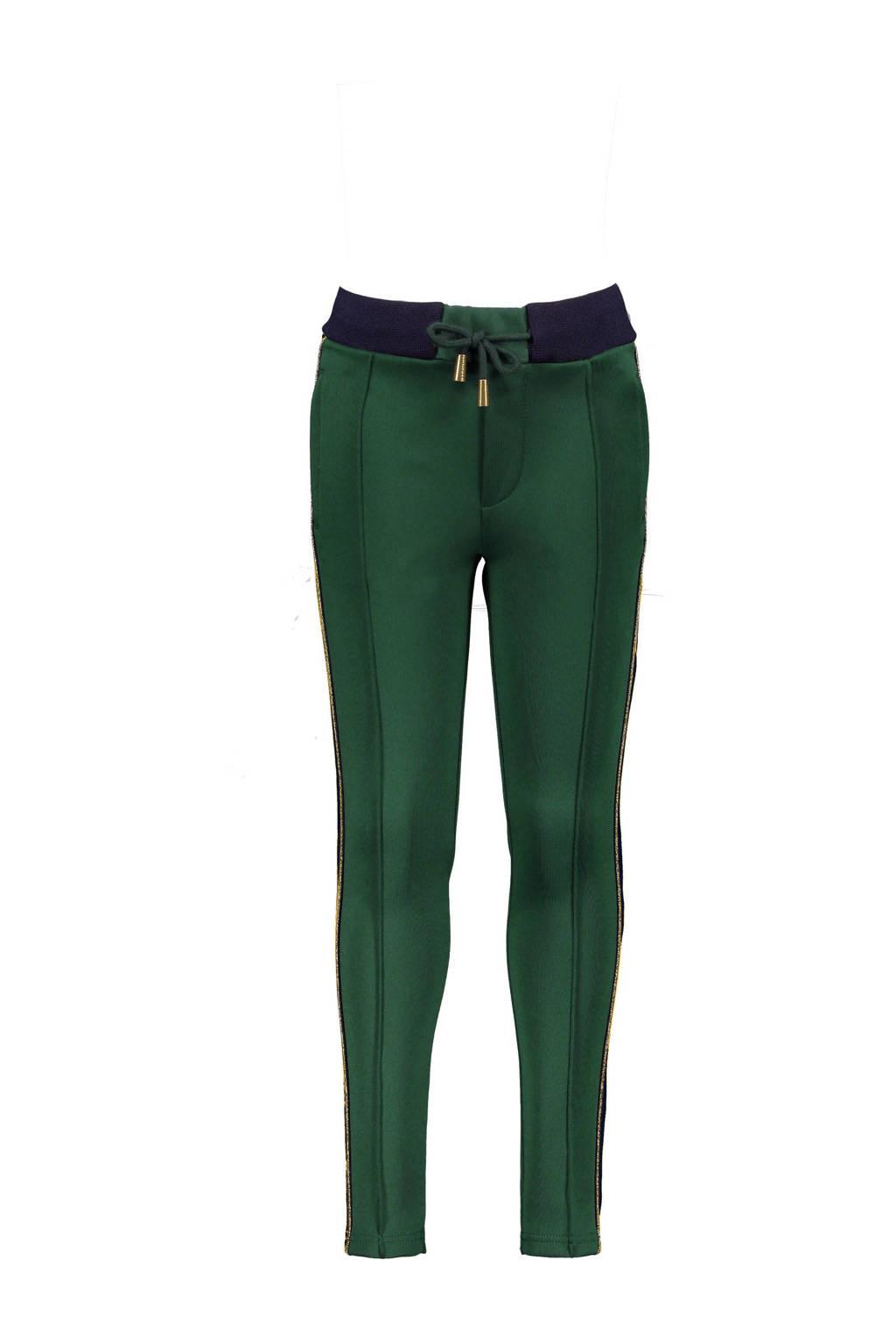 NoBell' tapered fit broek SeclerB met zijstreep donkergroen/donkerblauw, Donkergroen/donkerblauw