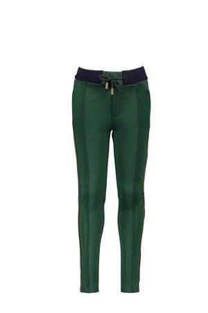 tapered fit broek SeclerB met zijstreep donkergroen/donkerblauw