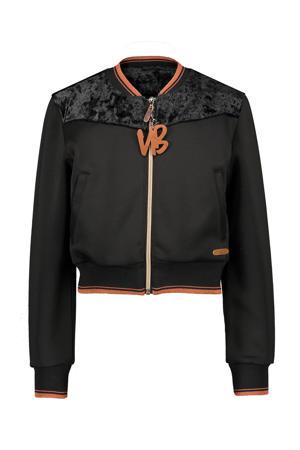velours jasje Dane met glitters zwart/bruin