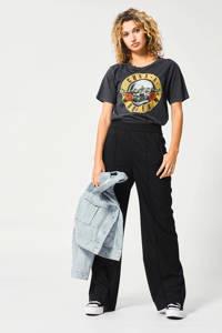 America Today T-shirt Erica met printopdruk washed black