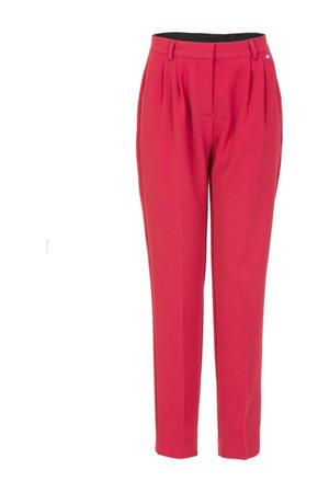 high waist tapered fit pantalon roze