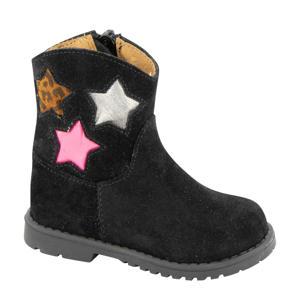suède laarzen met sterren zwart
