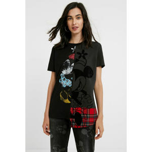 Mickey Mouse T-shirt met printopdruk zwart/rood/antraciet