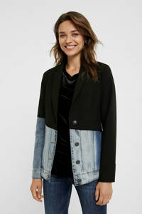 Desigual blazer zwart/light denim, Zwart/light denim