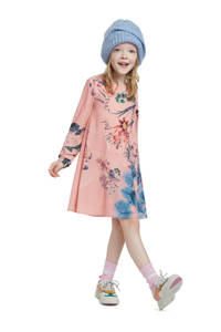 Desigual gebloemde A-lijn jurk lichtroze, Lichtroze