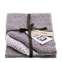 Briljant Baby Minimal Dots hydrofiel luier - set van 3 grijs, Grijs
