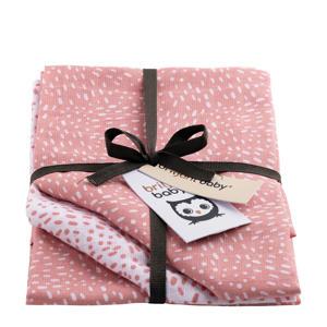 Minimal Dots hydrofiel luier - set van 3 roze
