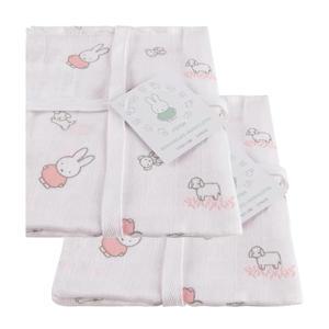 Nijntje Grass washandje - set van 6 roze