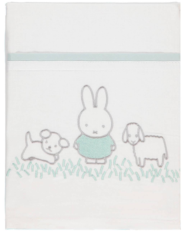 Briljant Baby ledikantlaken Nijntje Grass 100x150 cm groen, Groen