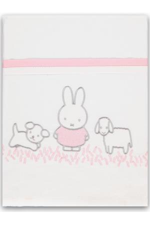 ledikantlaken Nijntje Grass 100x150 cm roze