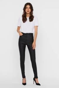 VERO MODA coated high waist skinny broek VMLOA  zwart, Zwart