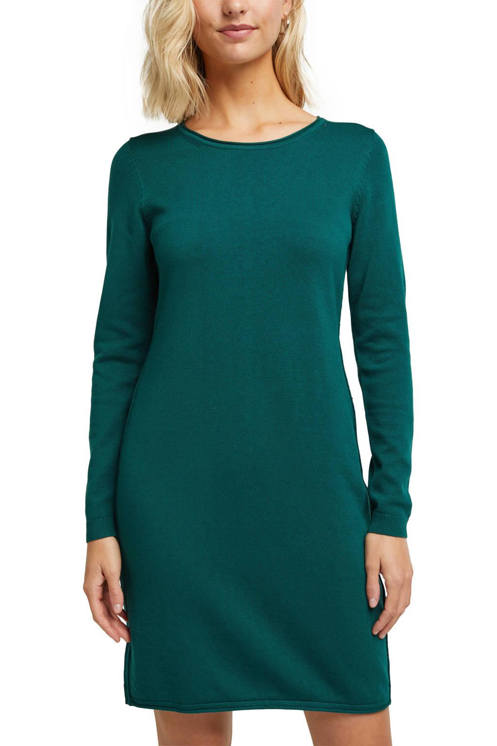 edc Women gebreide jurk met biologisch katoen groen, Groen
