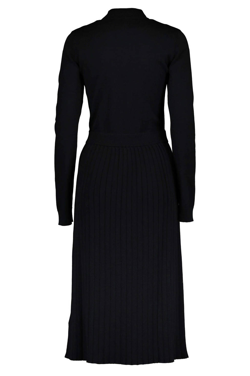 edc Women fijngebreide jurk zwart, Zwart