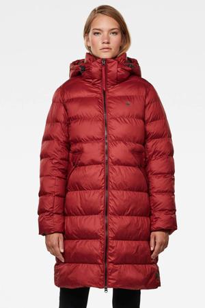gewatteerde jas met afneembare capuchon Whistler dry red