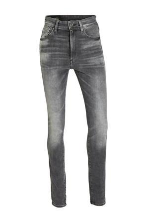 Kafey high waist skinny jeans met studs vintage basalt