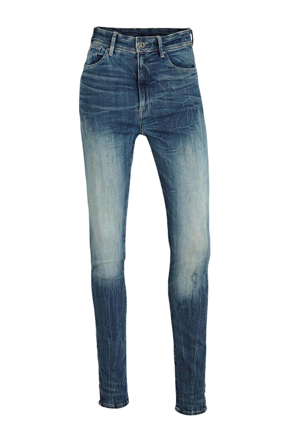 G-Star RAW high waist skinny jeans Kafey antic faded baum blue