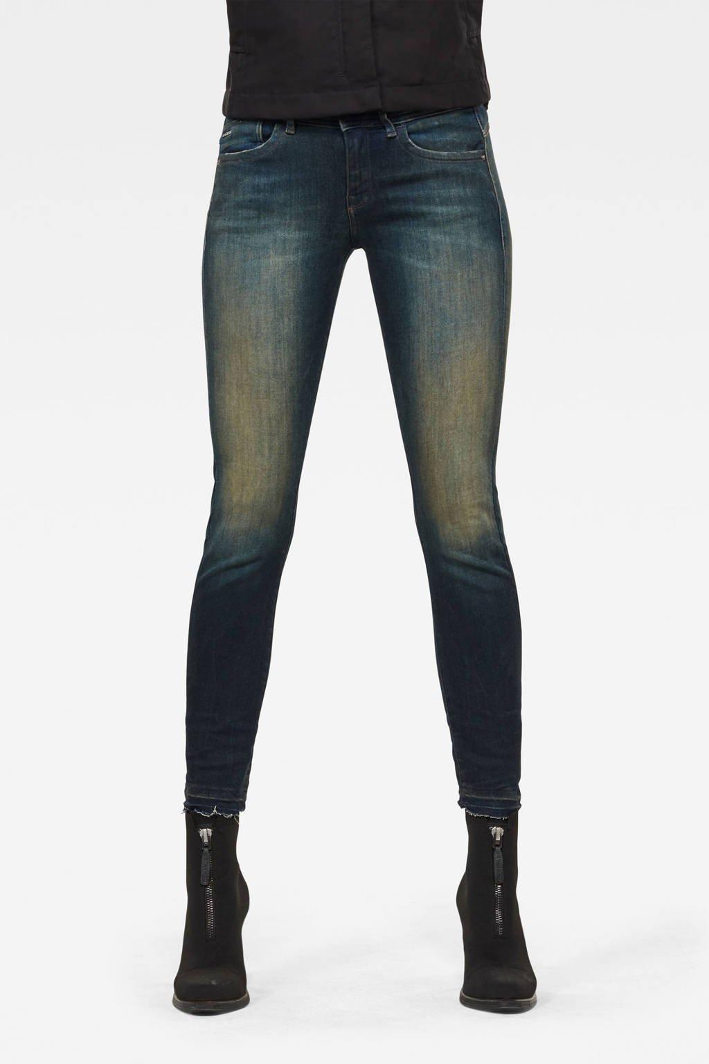 G-Star RAW Lynn cropped skinny jeans antic blight green