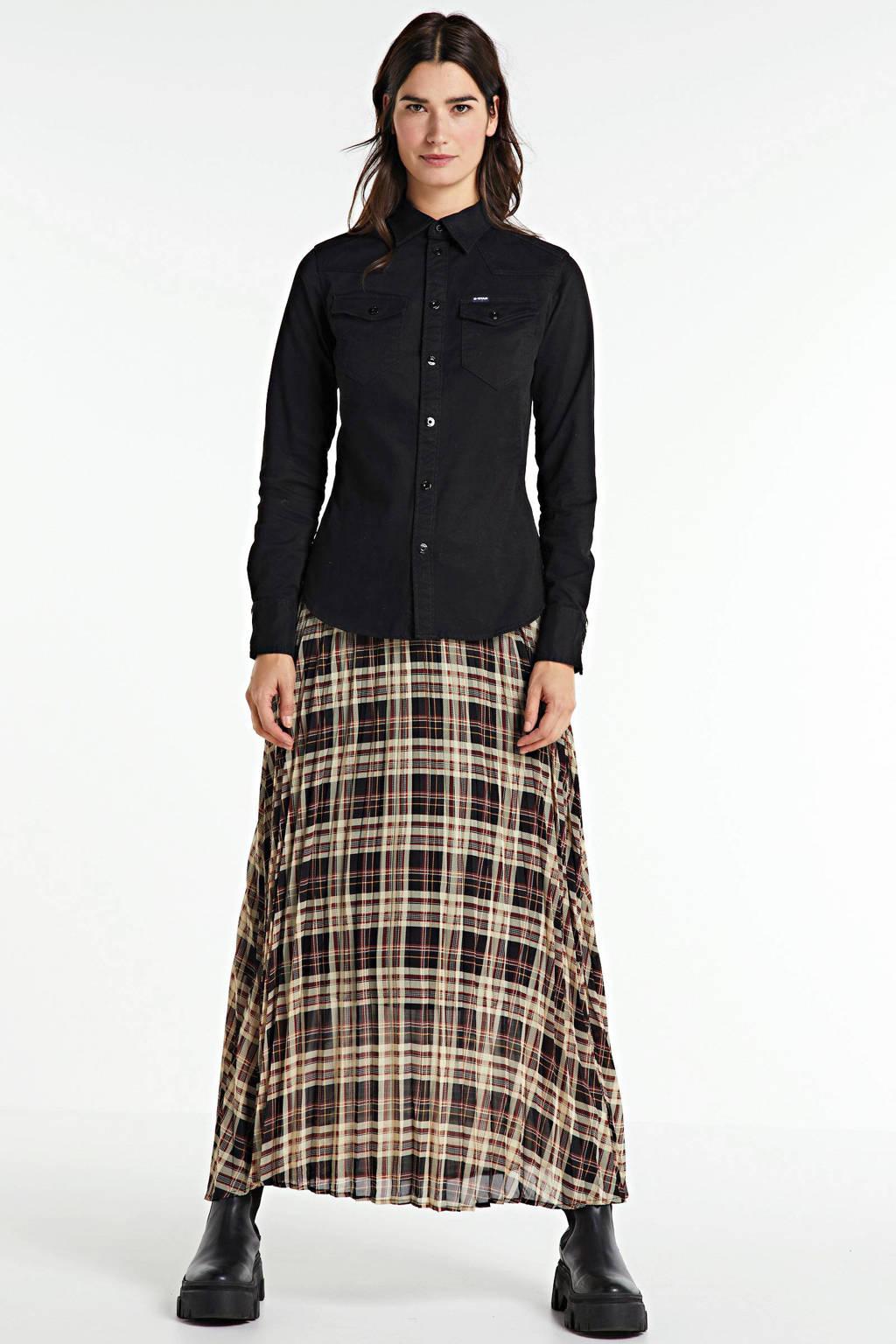 G-Star RAW blouse Core mock met biologisch katoen zwart, Zwart