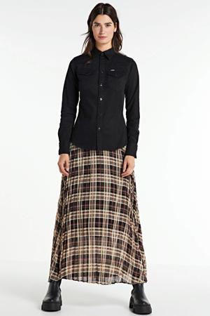 blouse Core mock met biologisch katoen zwart