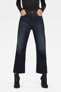 G-Star RAW Tedie cropped high waist straight fit jeans worn in xenon blue