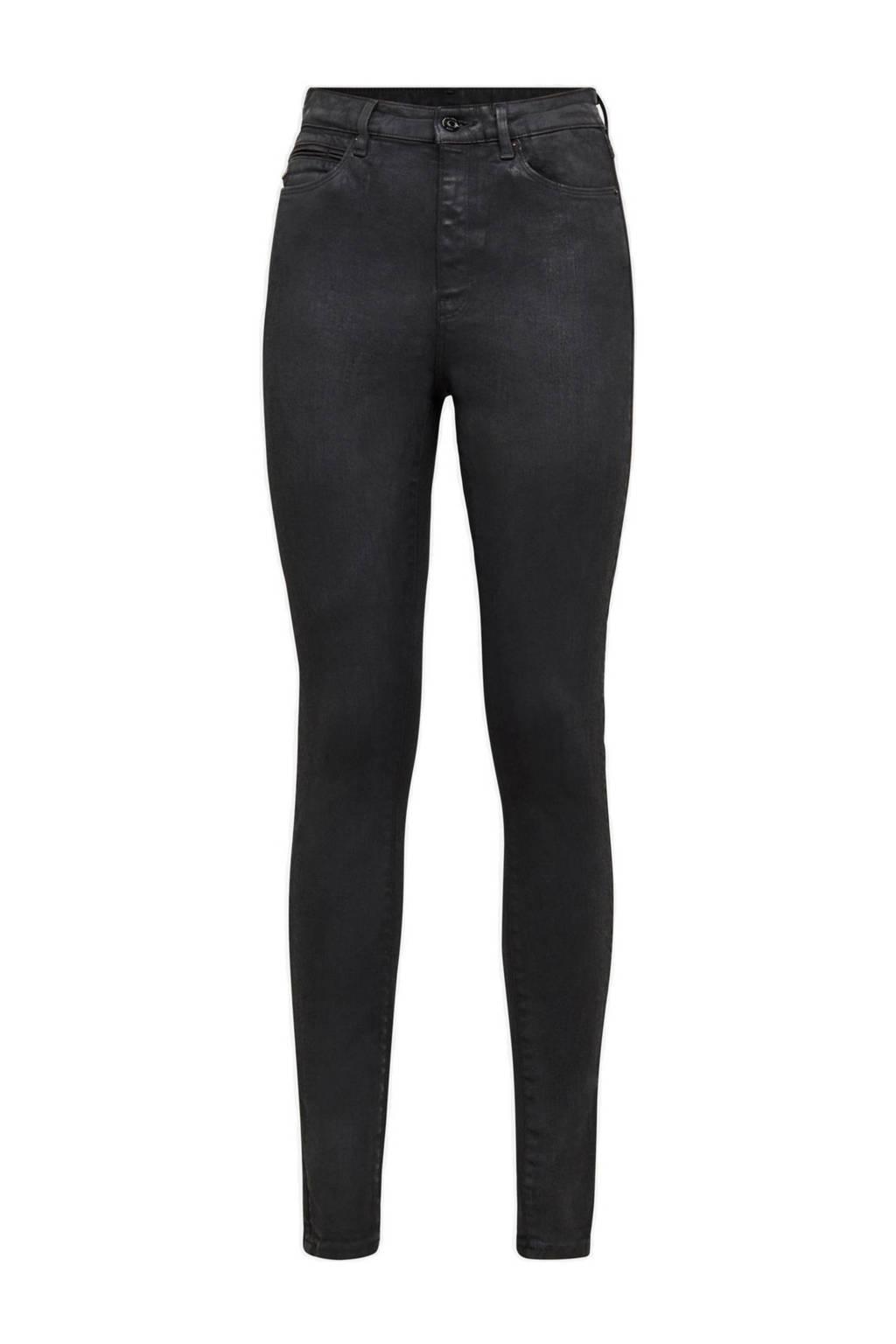 G-Star RAW high waist super skinny jeans Shape met studs black obsidian cobler