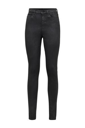Shape high waist super skinny jeans met studs black obsidian cobler