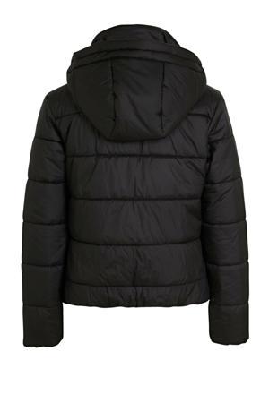 gewatteerde winterjas Meefic zwart