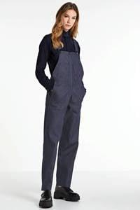 G-Star RAW high waist straight fit tuinbroek raw denim, Raw denim