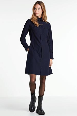 A-lijn jurk Western slim frill rinsed blue