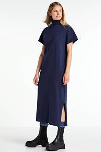 G-Star RAW gebreide maxi jurk New Disem sartho blue, SARTHO BLUE