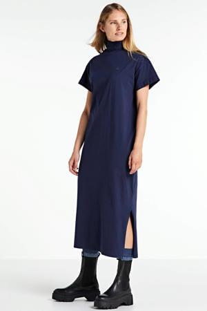 gebreide maxi jurk New Disem sartho blue