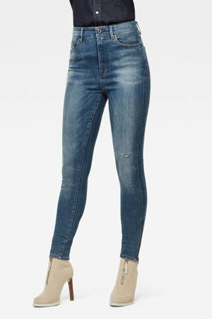 Noxer high waist super skinny jeans met biologisch katoen worn in gravel blue