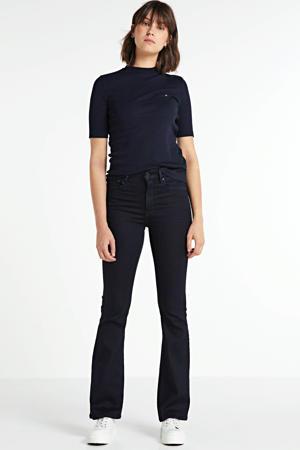 3301 high waist flared jeans black iced flock