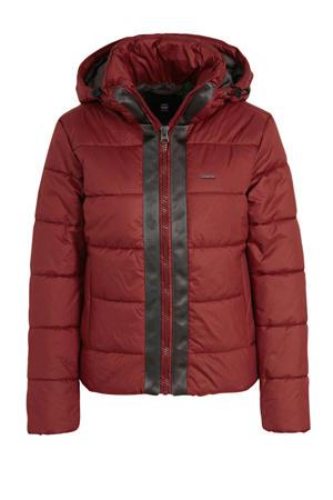 gewatteerde winterjas Meefic rood